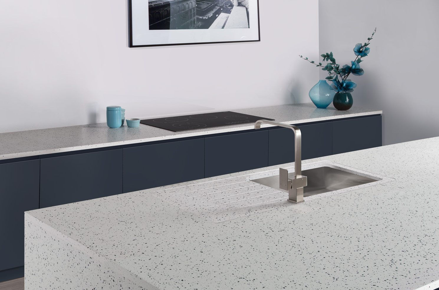 Ice Blue minerva worksurface