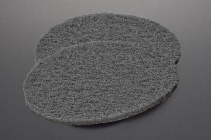 grey abrasive pads